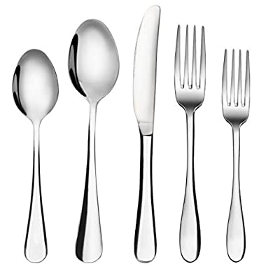 Silverware Set, MCIRCO 20-Pieces Flatware Set Heavy-Duty Stainless Steel Cutlery Set, Silverware Set,tableware set-Service for 4