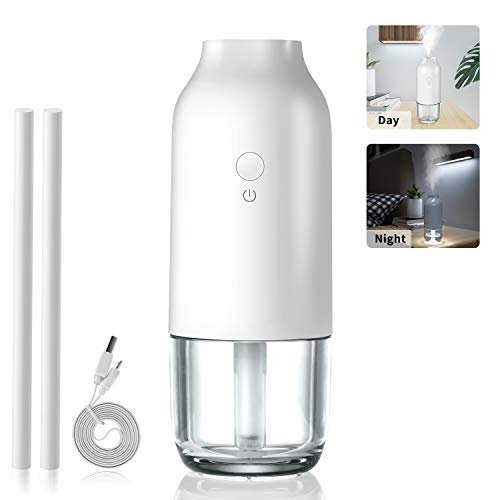 Joyoldelf USB Portable Mini Humidifiers with Night Light & Water Tank, Great Cool Mist Air Diffuser...
