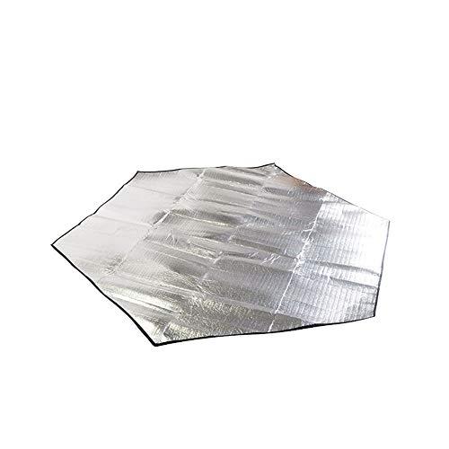 Waniyin Doppelseitige Aluminiumfolie Feuchtigkeitsbeständige Pad Outdoor Strand Picknick Aluminium Film Pad Zelt Schlafsack wasserdichte Kinder Krabbeln Matte