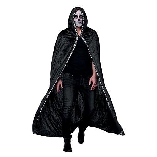 Boland- Domino Mantello con Cappuccio Skull Shadow per Adulti, Nero, M/L, 71011
