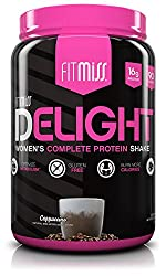 FitMiss Delight Protein Powder- Healthy Nutritional Shake for Women with Whey Protein, Fruits, Vegetables and Digestive Enzymes to Support Weight Loss and Lean Muscle Mass, Chocolate