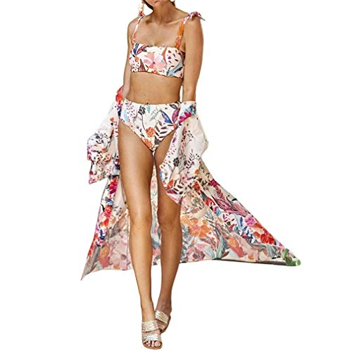 Ai.Moichien Femmes Imprimer Cardigan Beach Blouse Maillot de Bain Sun Cover Cardigan Rose Taille Unique