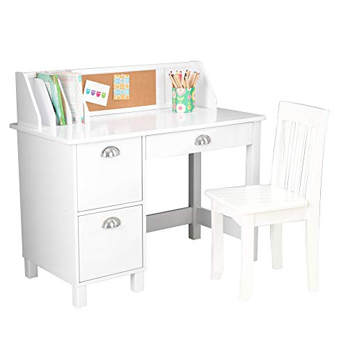 "Kidkraft Study Desk with Chair-White, 39.25"" x 21.25"" x 10"""
