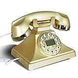 SXRDZ Resina Europea Dial Rotary Decoración del teléfono Café Bar Ventana Decoración Decoración del hogar Props (Color: Azul) (Color : Gold)