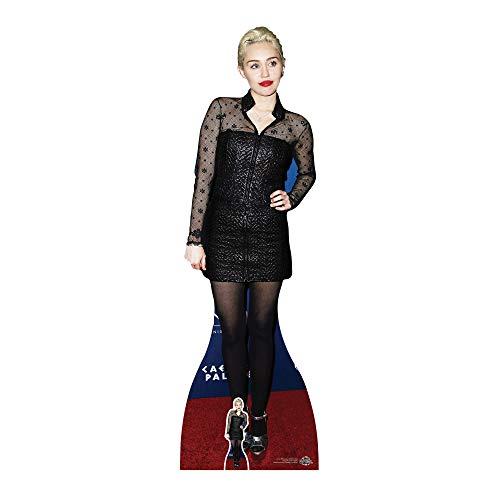 Celebrity Standee In Lebensgröße Miley Cyrus (schwarz Kleid) Life Größe Pappe mit Tisch Top Mini Schnitt Out, Multi Farbe