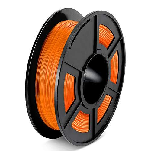 YANHAI Flexible TPU 3D Printer Filament 1.75mm, Dimensional Accuracy +/- 0.03 mm, 0.5 Kg/Spool transparent orange