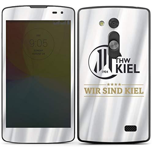 DeinDesign Folie kompatibel mit LG L Fino Aufkleber Skin aus Vinyl-Folie THW Kiel Handball Offizielles Lizenzprodukt