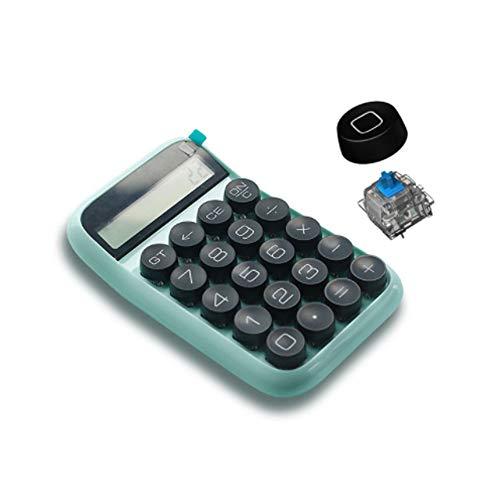 計算機 デザイン電卓 電卓 標準機能 電子 大型ディスプレイ付き メカニカル式 丸形キートップ 滑り止め 人間工学設計 ミニ タイプライター風 ビンテージ ポータブル 卓上 かわいい シンプル ポケット オフィス