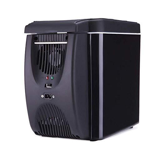 GHJA Refrigerador y Calentador eléctrico para Oficina, Dormitorio Universitario, Dormitorio y apartamento, refrigerador de compresor pequeño - Refrigerador de Hielo para automóvil de 6 litros, mi