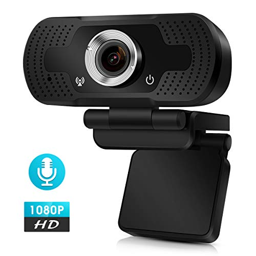 DEATTI Webcam 1080P Full HD mit Mikrofon, Autofokus USB Kamera Facecam Webkamera, PC/Xbox One/Mac/ChromeOS/Android, Schwarz