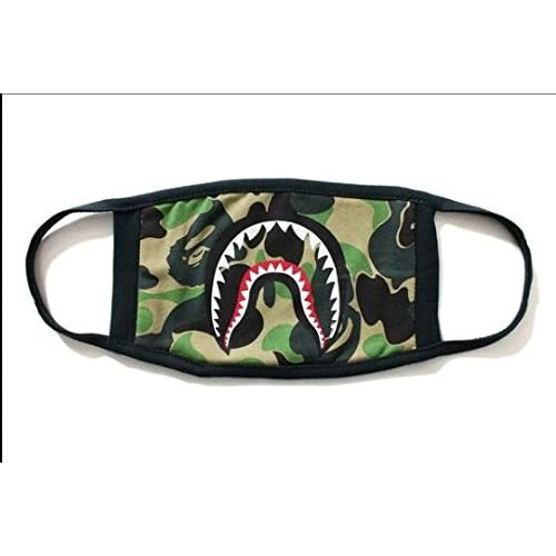 fc601d65 Fashion A Bathing Ape Bape Shark Black Face Mask Camouflage Mouth-Muffle  BAPE Cover (A): Amazon.ca: Home & Kitchen