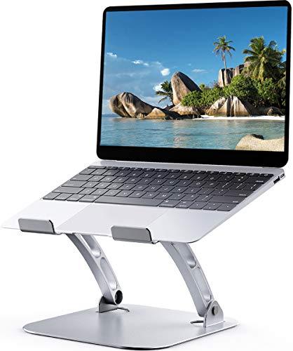 Supporto PC Portatile, Hcman T602 Supporto per PC Portatile Ergonomico Regolabile in Alluminio per Scrivania per MacBook Air Pro, Dell, HP, Lenovo, altri laptop da 10-17'', Argento