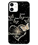 Personalized Blessed to Be Called Grandma Butterfly Phone case, Custom Grandma with Grandkids Name Phone case, Mothers Day, Grandparent Day, Birthday Gift for Grandma, Mom, Nana, Mawmaw, Grandmother