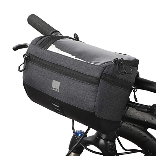 ArcEnCiel Bike Handlebar Bags Bicycle Front Basket Waterproof Cycling Storage Pouch with Biking Transparent Touch Screen Phone Holder for MTB
