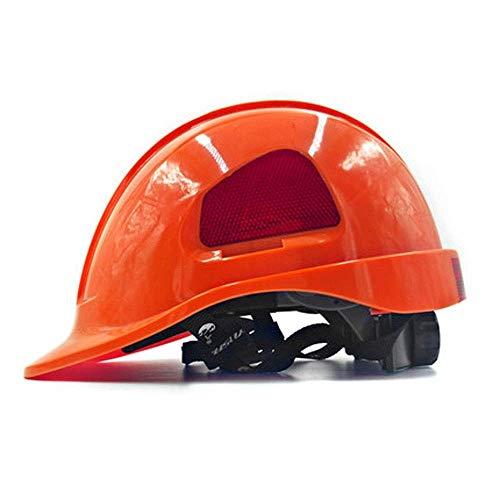 XJLG-Schutzhelm Hochleistungs-Gerüstbau-Kletterhelm mit Kinnriemen Bauhelm (Farbe : B)