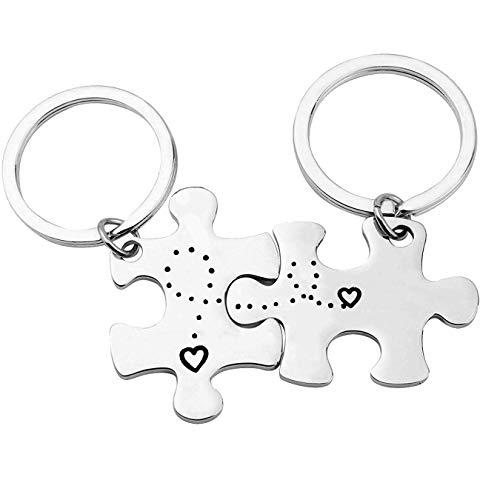 Schlüsselanhänger für Paare, Geschenke für Freund, Freundin, Ehemann, Ehefrau, Jahrestag, Weihnachten, Geburtstag, Valentinstag, Geschenke für Paare