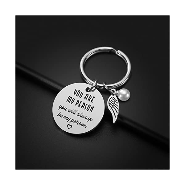 Best Friend Gifts Keychain – Perfect Friendship Gift Ideas for Women Teens Girls Sisters Birthday Gifts Graduation Gifts Christmas Gifts, Stainless Steel