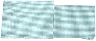 単衣 着物 木綿着物(TLサイズ 伊勢木綿/ターコイズブルー ベージュ 格子 チェック柄 15639)単品 トールサイズ 居敷当て 綿100%