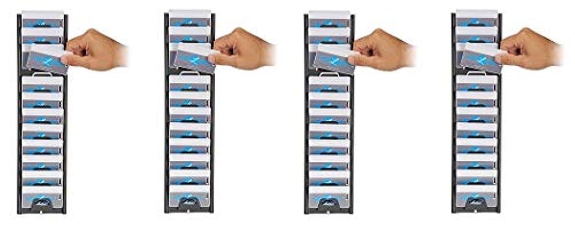 オピエート受信機コロニーLathem バッジ&IDカードラック 12ポケット 横型 スチール チャコールグレー (12-BB) 4-(Pack)