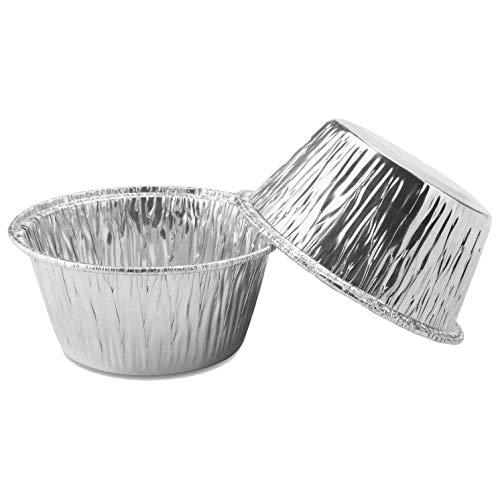 cherrypop 150 piezas de papel de aluminio Cupcake tazas Ramekin Muffin Baking Cups, Bolsas desechables para muffins, tazas de Ramekin, bandeja de aluminio para hornear, tazas para hornear para pudín