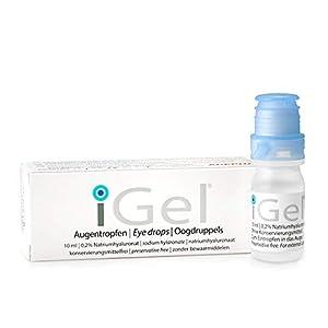 iGel® Gotas Hidratantes para Ojos Secos | Lágrimas Artificiales Contactos | Ácido Hialurónico y Sin Preservativos | Hechas en Europa por AGEPHA PHARMA