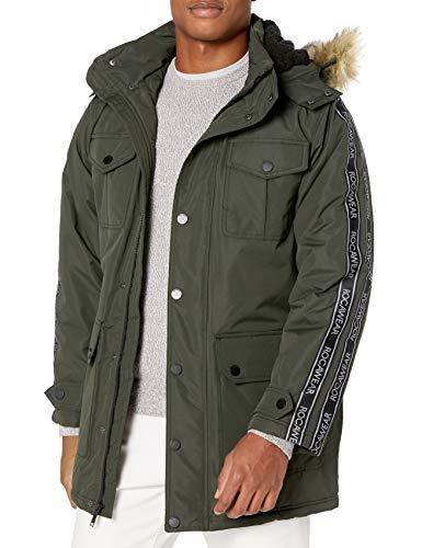 Rocawear Men's Outerwear Jacket, Signature Paprika Dark Olive, L