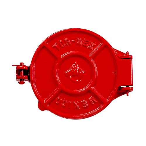 Herradura Tortilla-Presse aus Gusseisen, rot,16cm - Tortilla Press Red, 16 cm