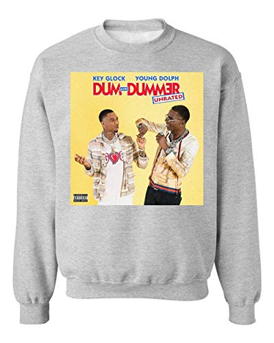 George Graphics Key Glock Young Dolph Dum and Dummer Unisex Sweatshirt Sweater Jumper X-Large