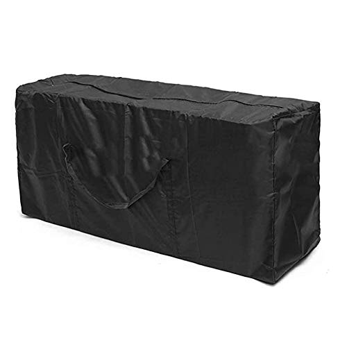 Outdoor Cushion Bag - Durable 210D Outdoor Furniture Storage Bags, Zippered Garden Cushion Storage Bag with Handles and Big Capacity 68' x 30' x 20'-Black