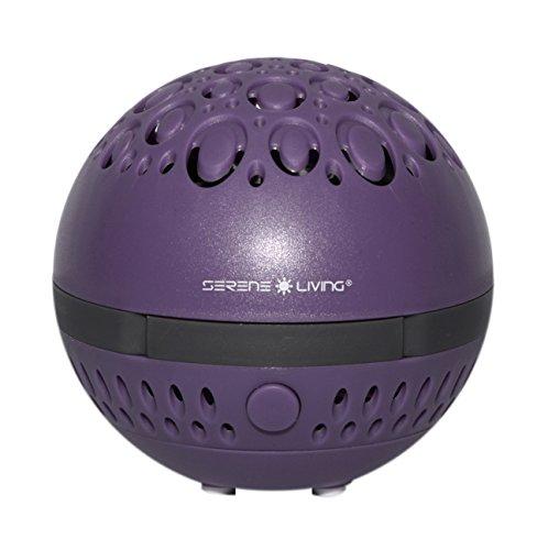 greenair Serene Living Aromasphere Essential Oil Diffuser for Aromatherapy, Purple, 0.5 Pound
