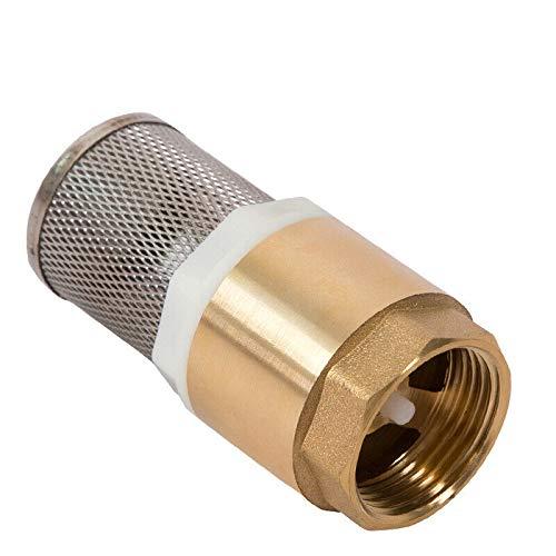POWERTOOL messing check ventiel 1 inch lente check klep niet terug pomp inlaat filter voetklep (Pack van 1) 1