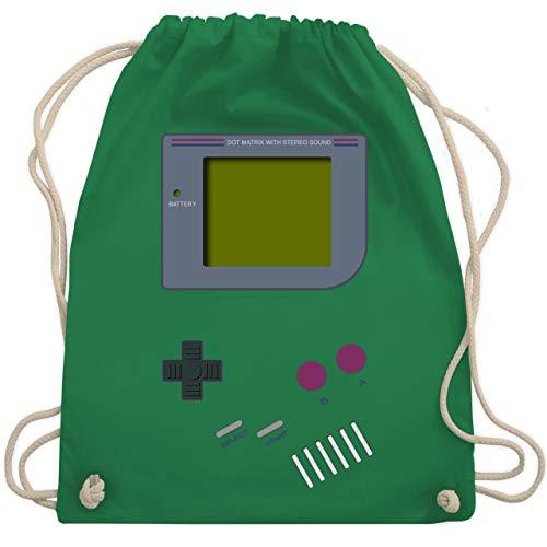 Shirtracer Nerds & Geeks - Gameboy - Unisize - Grün - bauchtasche retro - WM110 - Turnbeutel und Stoffbeutel aus Baumwolle