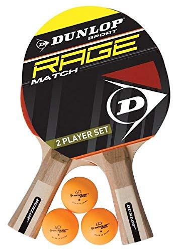 Dunlop Sports Ac Rage Match 2 Player Set Tennis Schläger, Black, 3