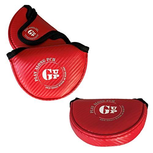ゴルフズ アップ GOLF`S UP マレット型パターカバーGUP001 合成皮革 (レッド(A))
