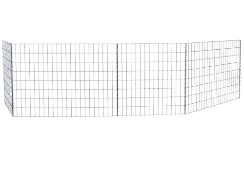 bellissa 3 Stück - Teichschutzzaun/Hundezaun – Kinderschutzzaun – Gartenzäune für Diverse Anwendungen – Maße L 1146 cm x H 80,5 cm