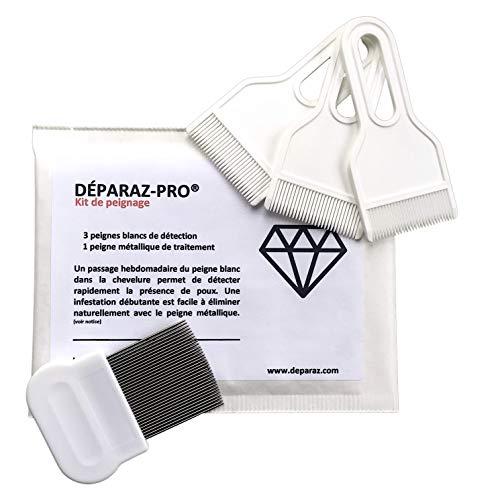 DÉPARAZ-PRO® Kit de peignage 2 en 1- Diagnostic & traitement