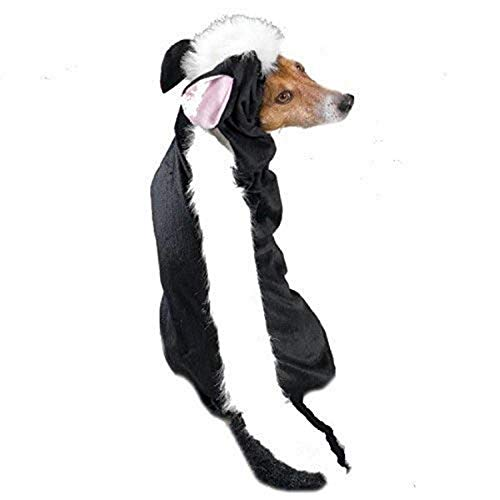Casual Canine Lil' Stinker Dog Costume, Small (fits lengths up to 12'), Black/White