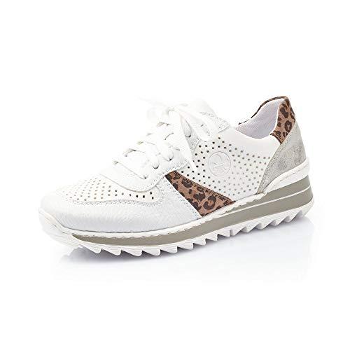 Rieker Femme Chaussures à Lacets M6927, Dame Chaussures de Sport,Chaussure Basse,Chaussure de Sport,Chaussure décontractée,Weiss,39 EU / 6 UK