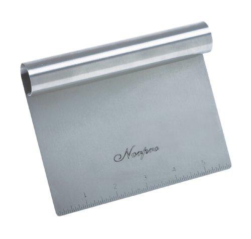 Norpro Stainless Steel Scraper/Chopper, 6in/15cm x 4in/10cm