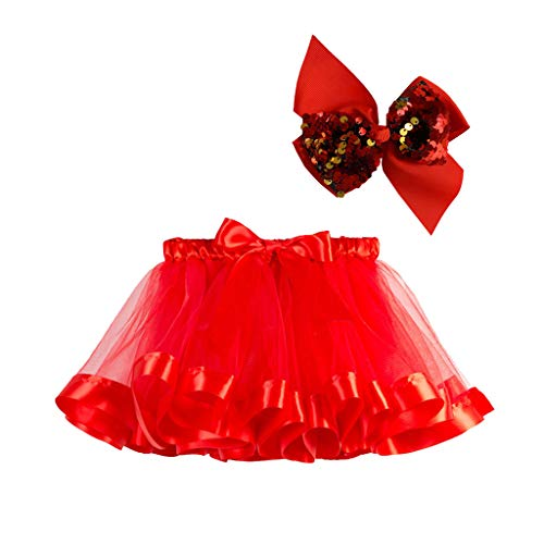 Toraway Kids Girls Tutu Dress Party Dance Ballet Costume Toddler Costume Skirt+Bow Hairpin 2pcs Set