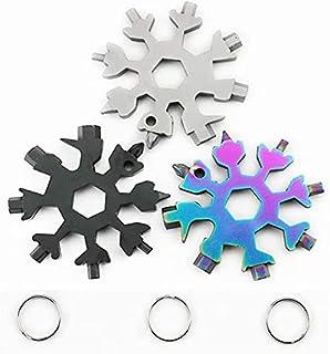 3 Pack 18-in-1 Snowflake Multi Tool, Stainless Steel Snowflake Multi-Tool Bottle Opener/Flat...