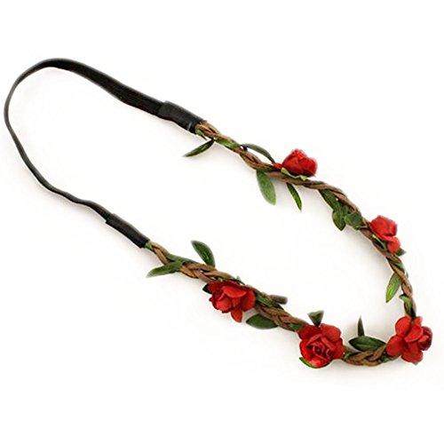Haodou 10 Stück Braut Kopfbedeckung Papier Blumen Tuch Kopf Kette Elegant schönen Kopf glänzend Stirnband Kranz für Lady Girl Frauen