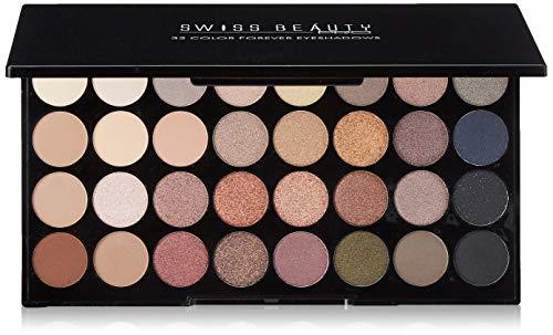 Swiss Beauty Pro 32 Color Forever Eyeshadows Palette, Eye MakeUp, Multicolor, 24g (Parish Fashion)