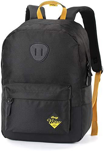 Nitro Urban Classic Pack'16 Sac à Dos Mixte, Noir doré, 45x30x15cm / 20 Liter