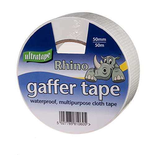 Ultratape 00415050WHS1 - Nastro adesivo multiuso Rhino, 50 mm, 50 m, colore: bianco, confezione da 1
