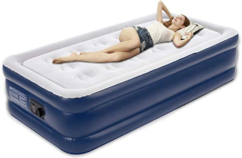 Tuomico Inflatable Single Size Air Bed,Twin Air Mattress Blow-up Bed with...