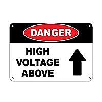 上記の危険な高電圧 金属板ブリキ看板警告サイン注意サイン表示パネル情報サイン金属安全サイン
