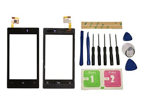 Replace für Nokia Alas para Nokia Lumia 520525526pantalla táctil con marco digitalizador cristal negro de la pantalla frontal Cristal (sin LCD) piezas de repuesto & Herramientas & adhesivo