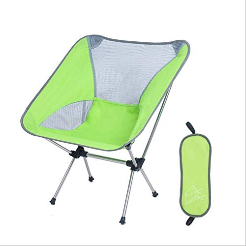 Outdoor klapstoel ultralight draagbare aluminium legering tillen rugleuning visserijstoel camping strand kruk 8bayfa (Color : Green)