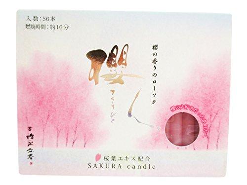 ミニろうそく 櫻人 ほのかな甘い香り 桜葉エキス配合 月命日 49日 彼岸 お盆 贈答 喪中見舞い